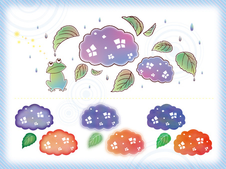 Hydrangea watercolor material