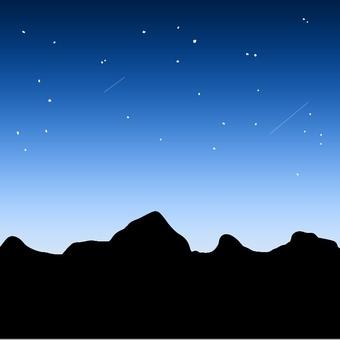 밤하늘과 산