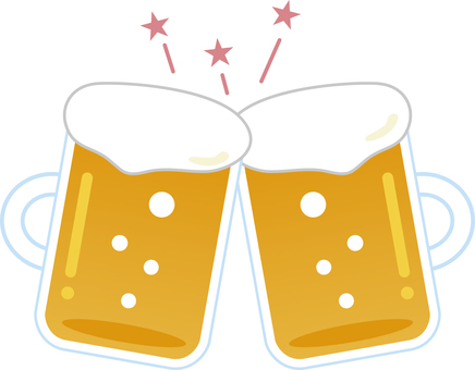 맥주로 건배