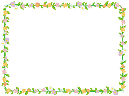 Flower and green decorative frame 2