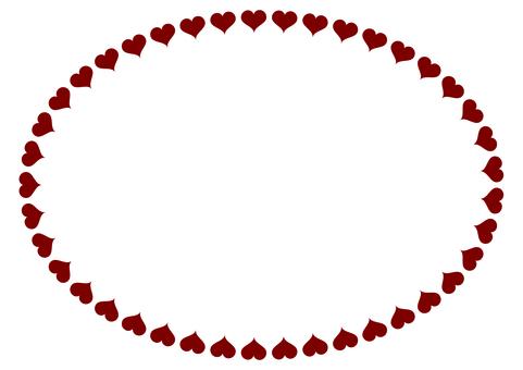 Round frame Heart frame 5