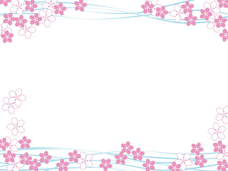 Cherry blossom frame 1 without background