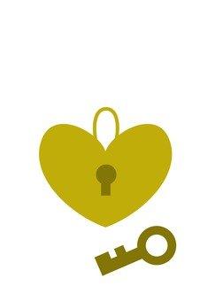 Heart's padlock charm
