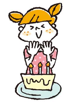 蛋糕和女孩