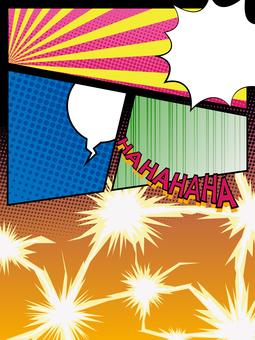 미국 만화 바람 프레임 나누기 프레임 1