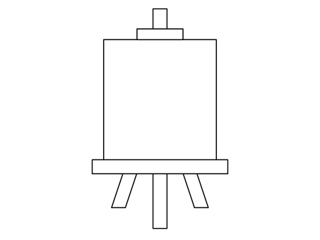 Easel (line drawing)