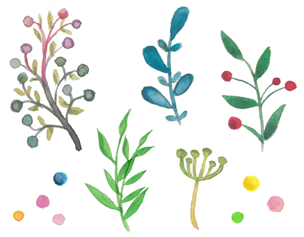 Watercolor plants-6