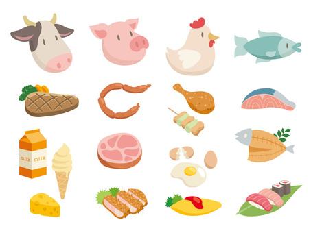 Çeşitli et ve balık