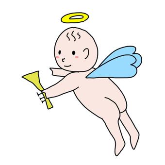 喇叭和裸體天使