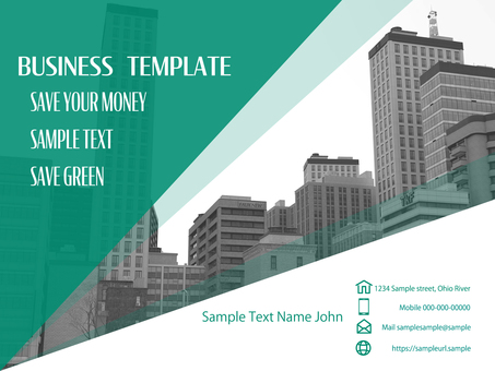 Business template building example city photo green