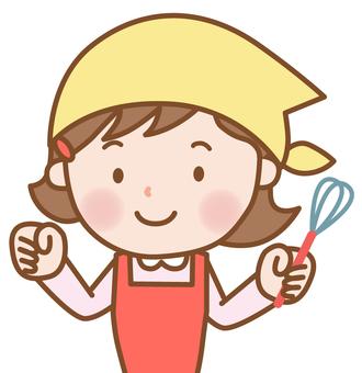 女孩:烹飪