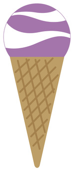 Ice cream (grape vanilla) gigantic peak