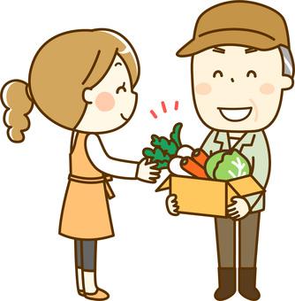 Farmer's man _ deliver vegetables