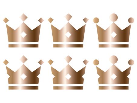 Crown copper (bronze) 6 kinds