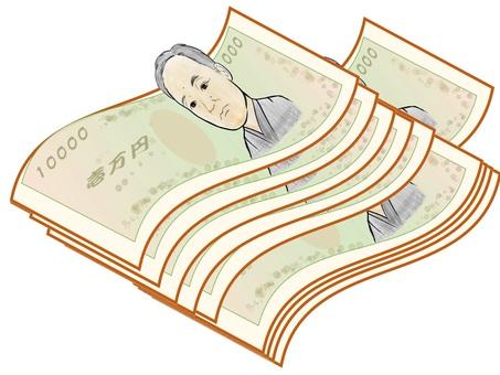 chacha wad 10,000 yen bill