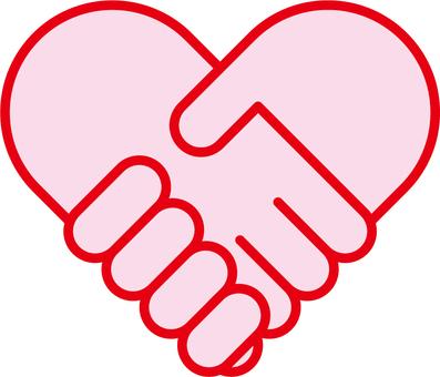 Heart handshake b