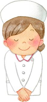 Nurse nurse cap to bow