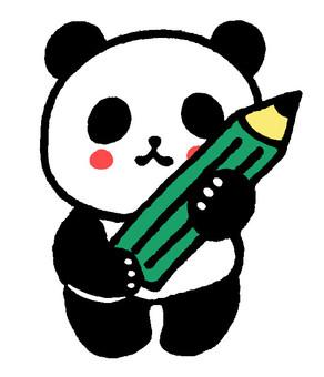 Panda with a pencil