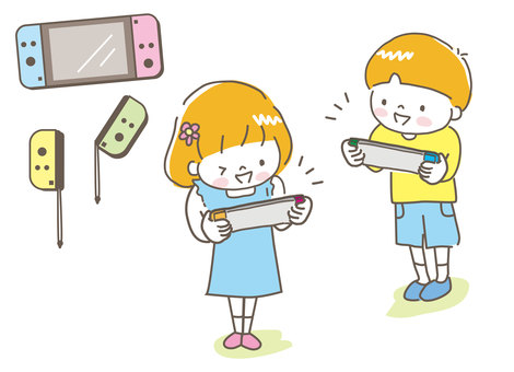 Children playing games