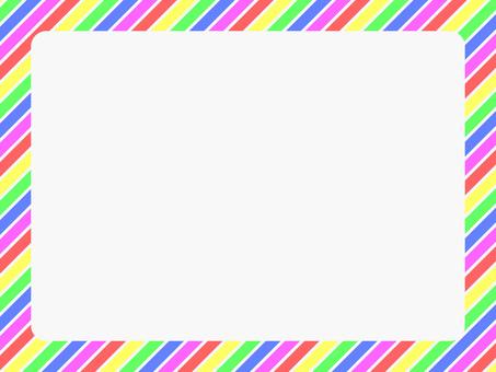 5 색 대각선 줄무늬 프레임 4