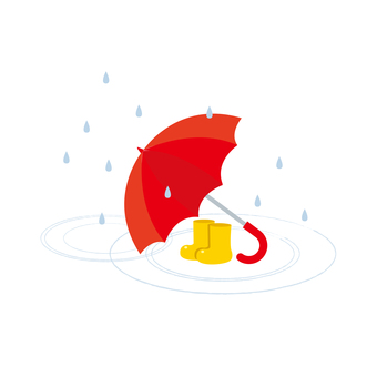 Boots and umbrellas