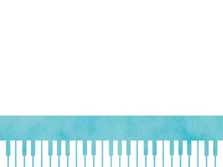 Watercolor-style piano keyboard 2