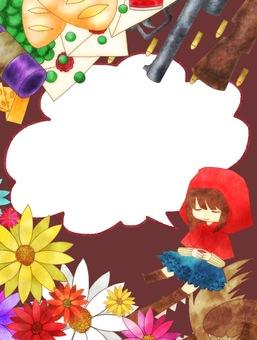 Little Red Riding Hood frame speech bubble