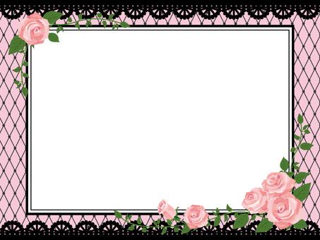 Pink rose gothic frame side 02