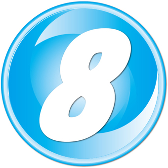 "Number button ""8"""