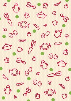 Background pattern, kitchen