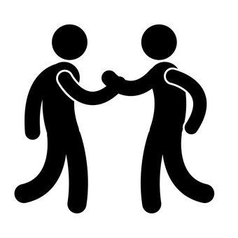 Pictogram (powerful handshake)