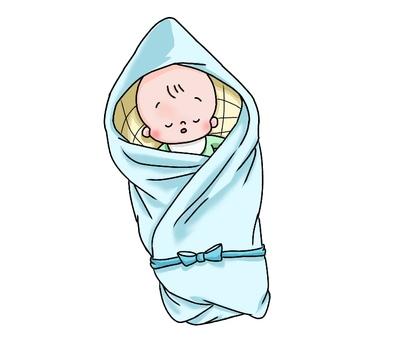 Baby who sleeps in a walnut
