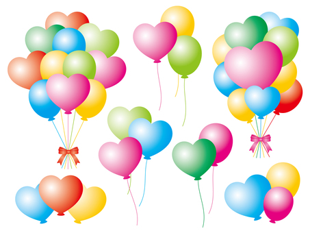 Bunch of colorful balloons set