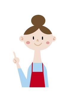 Fingering girl apron