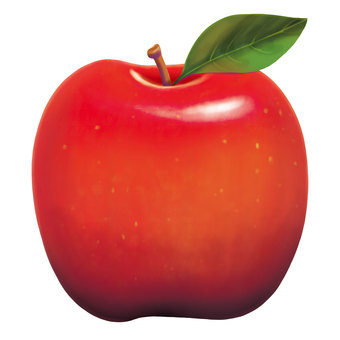 Apple (with leaves)