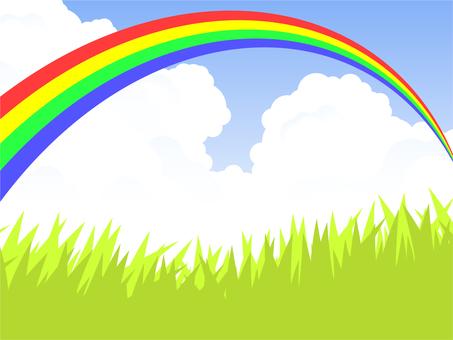 Prairie and rainbow bridge (4 color rainbow) Rainbow clear
