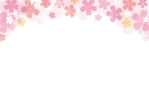 벚꽃의 배경 2