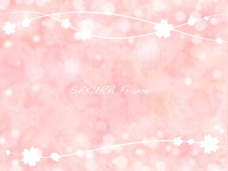 Cherry blossoms frame 16