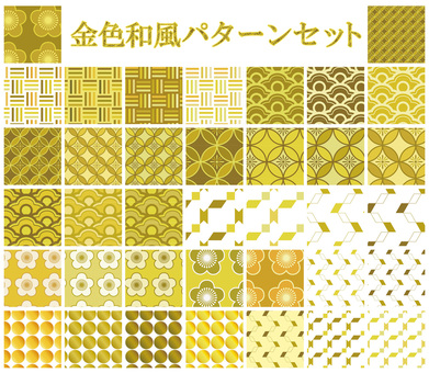 Japanese style pattern Sakura Sakura set background swatch