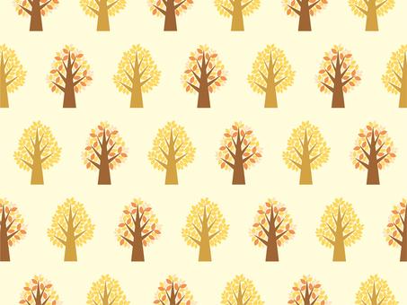 Tree tree tree pattern yellow