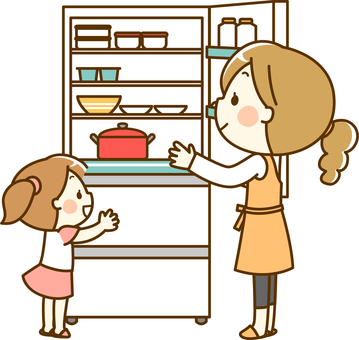냉장고를 들여다 친자