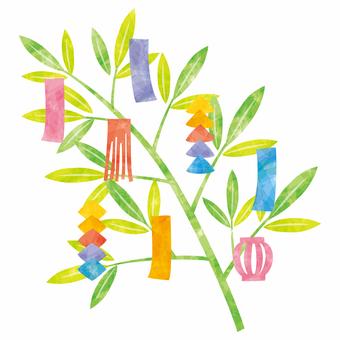 Tanabata decorate left facing
