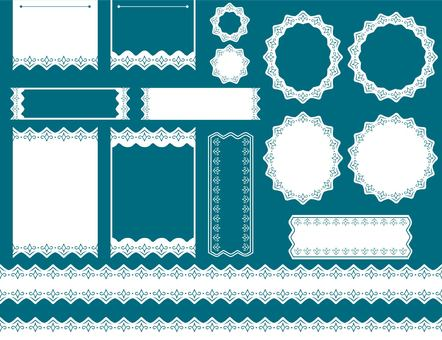 Monochrome lace set (white)