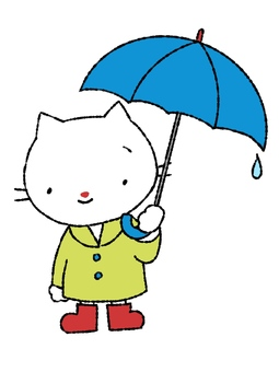 Rainy season cat