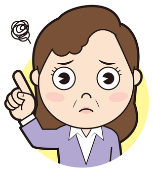 Finger pointing senior women (worried)