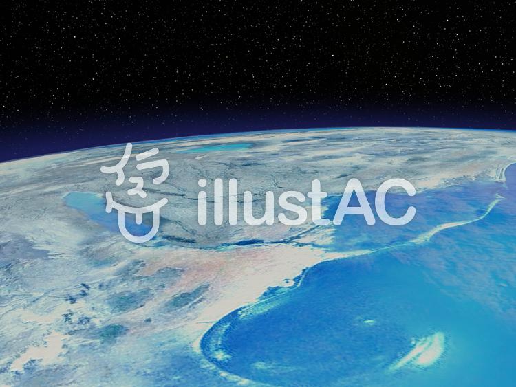 青い海と地球のイラスト