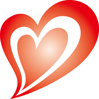 Heart _ double _ red