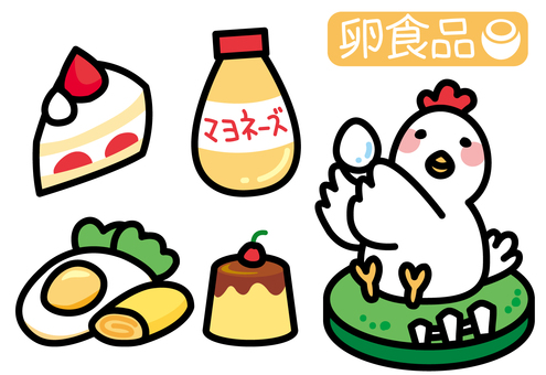 Various chicken and egg food at ranch