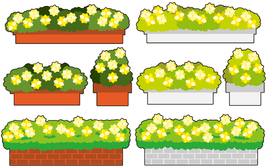 Yellow flower bed 2