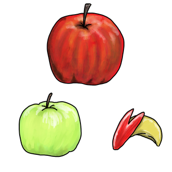 Apples variously